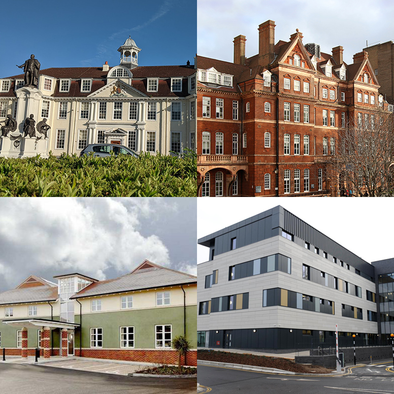 King Edward VII Hospital, The National Hospital for Neurology & Neurosurgery, The Chalfont Centre and Wexham Park Hospital